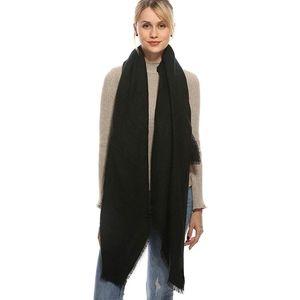 Blanket Scarf Black Wrap